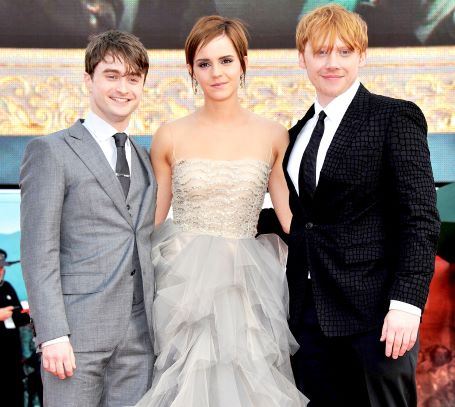 Daniel Radcliffe along with Emma Watson and Tom Felton
