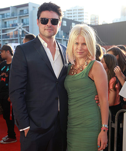 Actor Karl Urban and his ex-wife Natalie Wihongi