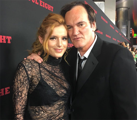 Bella Thorne and Quentin Tarantino
