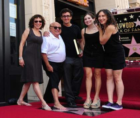 Actor Danny DeVito, his ex-wife Rhea Perlman and their three children