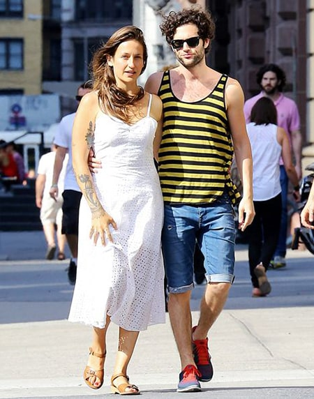 Pen Badgley and his current wife, Domino Kirke