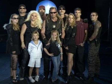 Duane Chapman with his extended family