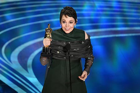 "English actress Olivia Colman won Oscar for her role in ""The Favourite"" in 2019"