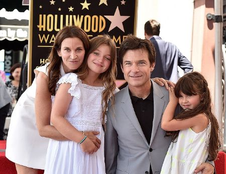 Jason Bateman with his wife and two daughters