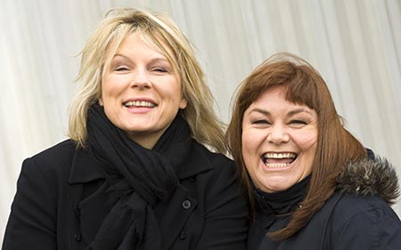 Actress, comedian Jennifer Saunders and her longtime comedy partner Dawn French