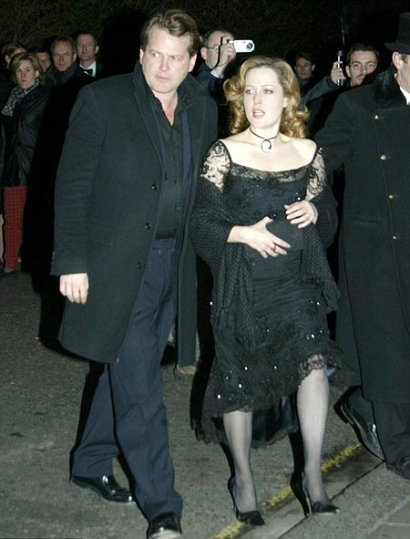 Gillian Anderson and her second husband, Julian Ozanne