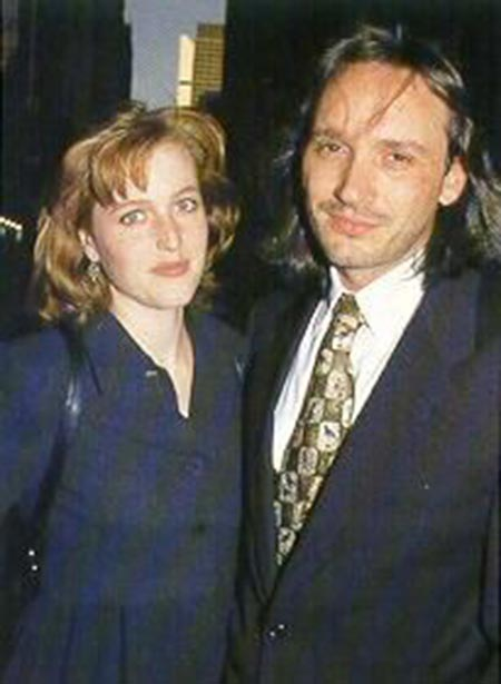 Gillian Anderson and her first husband Clyde Klotz