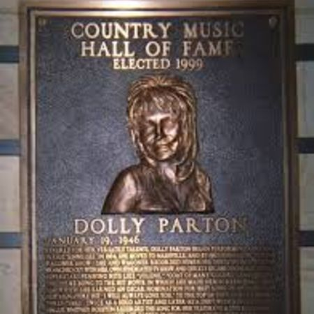 Parton's plaque at the Country Hall of Fame