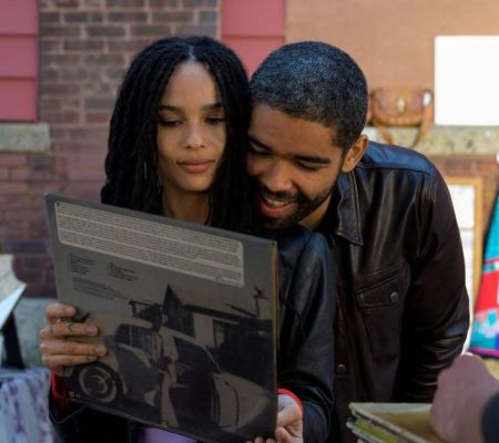 Kingsley Ben-Adir and Zoë Kravitz