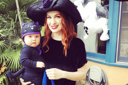 Felicia Day with daughter, Calliope Maeve