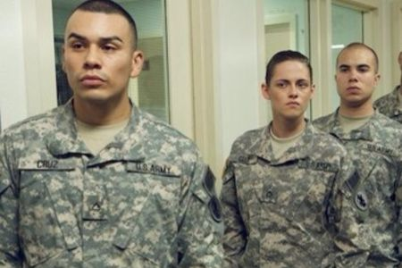 J.J. Sorio alongside Kristen Stewart in Camp X-Ray
