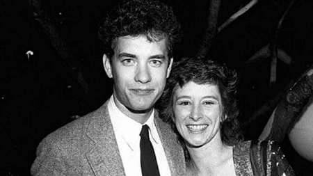 Samantha and Hanks during the early days of their relationship