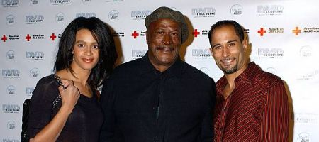 John Amos with daughter, Shannon, and son, K.C. Amos