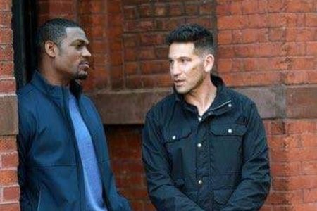 Jason R. Moore and Jon Bernthal in The Punisher