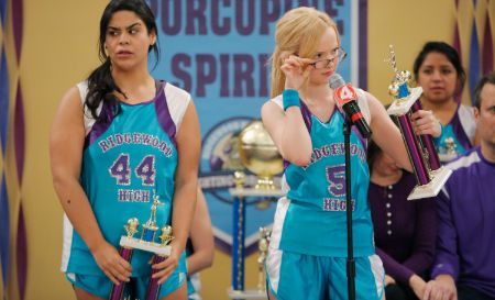 Jessica Marie Garcia and Dove Cameron in Liv and Maddie